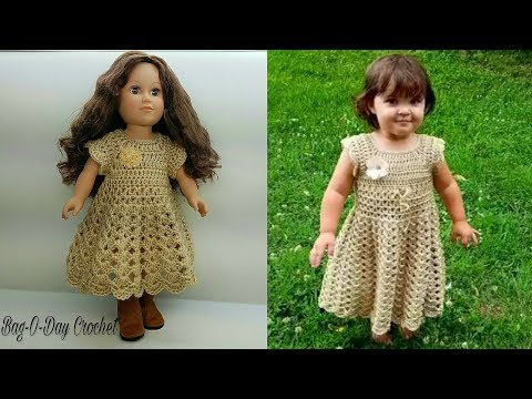 How To Crochet - Doll Dress | Lil' Doll on the Prairie {18
