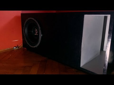 "T-Line Subwoofer Box Build - 12"" Ground Zero GZTW 30T"