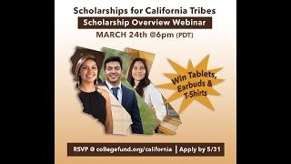 California Tribal Scholarship Webinar - American Indian College Fund