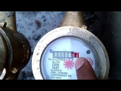 How to calculate water flow meter reading - Kranti water meter