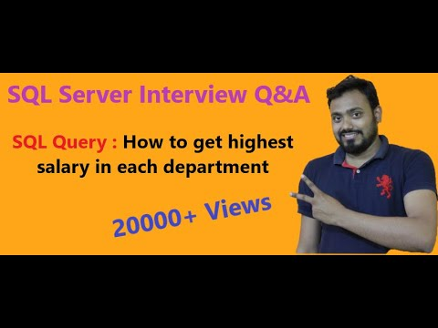 Sql Server Interview Question And Answer Part 15 (Max Department Wise Salary with EmpDetail)