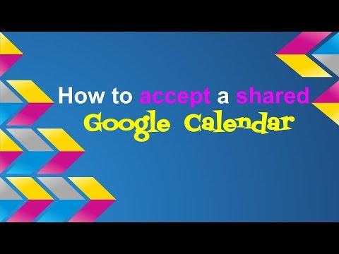 How to accept a shared Google Calendar