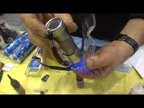 How to repair Plastic Goggles glasses with Black Bull Adhesive
