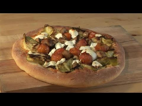 How To Cook Deep Pan Mushroom And Goat Cheese Pizza