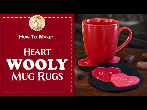 How to Make Heart Wool Mug Rugs | a Shabby Fabrics Craft Sewing Tutorial