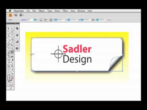 Rounded Rectangle Curled Corner Label in CS4 Illustrator