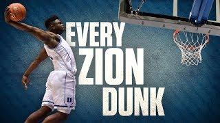 Each of Zion Williamson