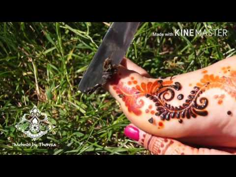 How to remove Henna paste (Mehndi by Theresa)