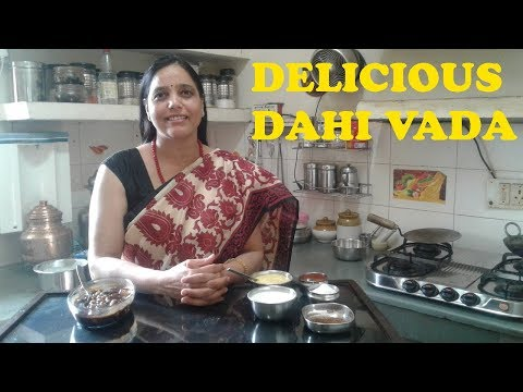 Dahi Vada (Moong Dal) Recipe - How to make Moong Dal Dahi Vada