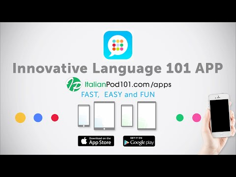 Learn Italian with our FREE Innovative Language 101 App!