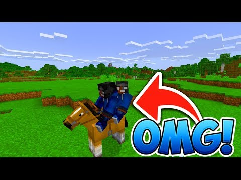 How to make 2 Players Ride 1 Horse!  - Minecraft PE (Pocket Edition)