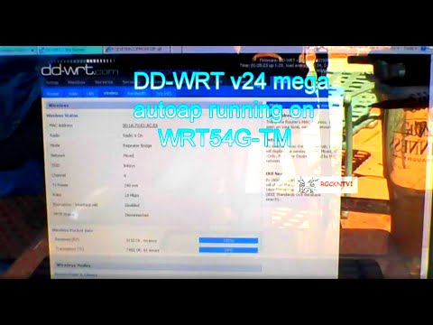 linksys wrt54g-tm router mod dd-wrt running autoap setup umbrella antenna