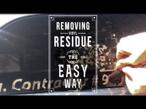 How to remove adhesive residue on a car or RV