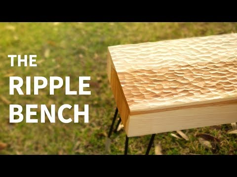 Power Carved Ripple Bench | woodworking how to
