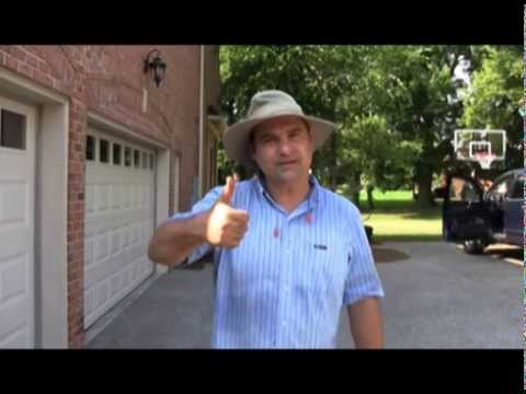 How to make a channel drain on a driveway. Trench Drain on Driveway for Garage.
