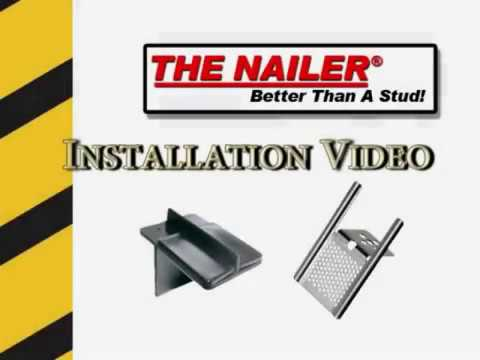 The Nailer - Hard Fastens to Both the Stud & Drywall Eliminating Need for Wood or Metal Blocking