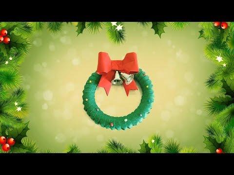 Christmas Ornament / Origami Wreath / Easy And Simple Christmas Idea For Kids   Priti Sharma