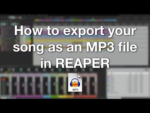How to export your song as an MP3 file in REAPER