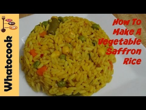 🍛 How To Make Vegetable Yellow Saffron Rice