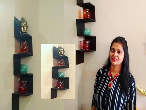 DIY no cost zigzag floating shelf | easy DIY wall shelf | DO IT YOURSELF by pratishtha