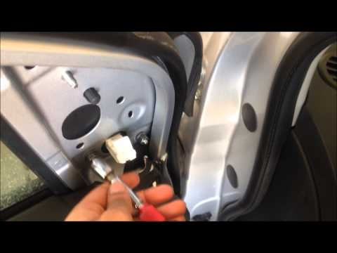 How to replace left rear view mirror on 2012 Sentra?