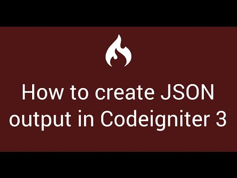 17 How To Create Json Output In Codeigniter 3