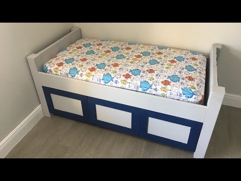 DIY Wood Toddler Bed