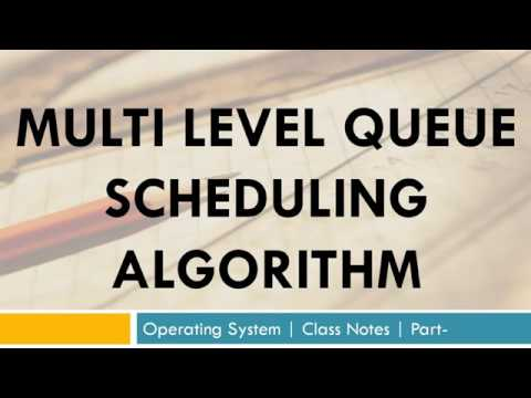 Multi Level Queue Scheduling Algorithm | Operating system, Class notes