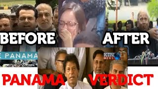 PML-N BEFORE and AFTER Panama disqualifying Verdict 2017