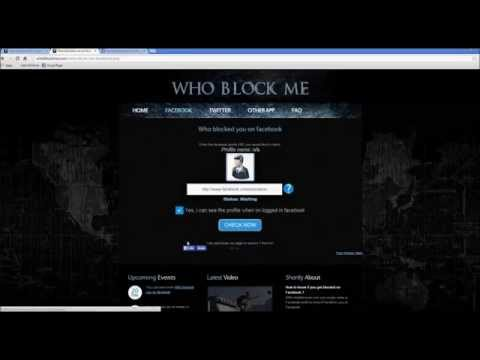 Who blocked me on facebook [Easy]
