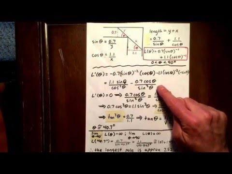 17 trig derivative: optimization word problem