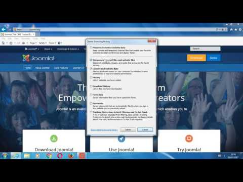 Clear browser cache in Internet Explorer (Windows)