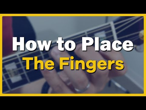 Lesson 3: How to Place the Fingers to Play Guitar