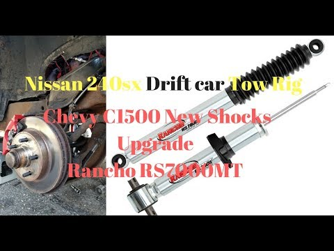 Nissan 240sx s13 Tow Rig Chevy C1500 Shocks Upgrade Rancho Rs7000