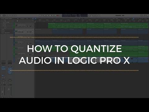 How To Quantize Audio In Logic Pro X Tutorial