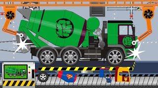 Concrete Mixer Truck HULK | Toy Factory | video for kids | Ciężarówka Betoniarka Hulk