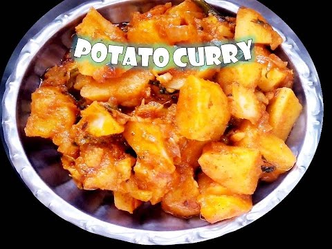 how to make Spicy Potato Curry (Telugu Style) - For Chapathi, Roti, Naan,Bread By sulochans kitchen