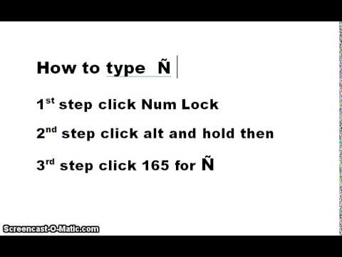 How to type  Ñ  or ñ