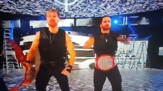 #RAW WWE Dean Ambrose Seth Rollins THE SHIELD TAG TEAM  RAW ENTRANCE
