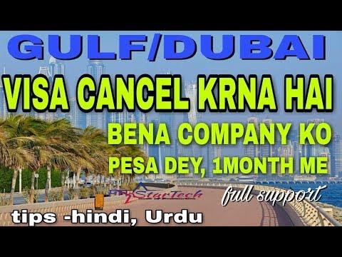 DUBAI working visa cancelled good step, company ko bena pesa dey cancel Karee, Hindi