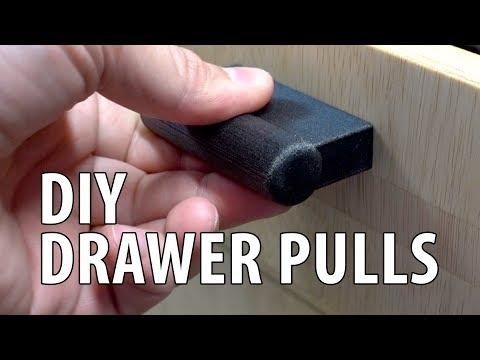 DIY Custom Drawer Pulls / Drawer Handles & Jig / Template using 3D Printing!