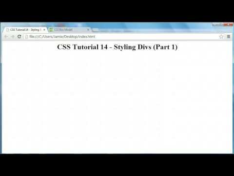 CSS Tutorial 14 - Styling Divs (Height, Width, Borders)