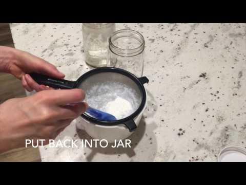 Straining your kefir grains