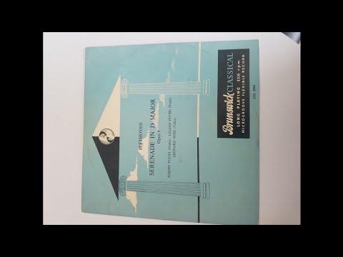 Joseph & Lillian Fuchs, Leonard Rose - Beethoven: String serenade in D Major op 8 (recorded 1950)