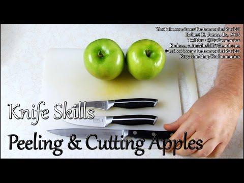 Knife Skills - PEELING & CUTTING APPLES - Day 16,760