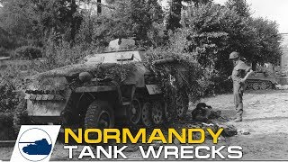 1 D-Day Normandy Destroyed German and Allied tanks and