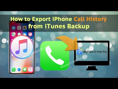 How to Export iPhone Call History from iTunes Backup
