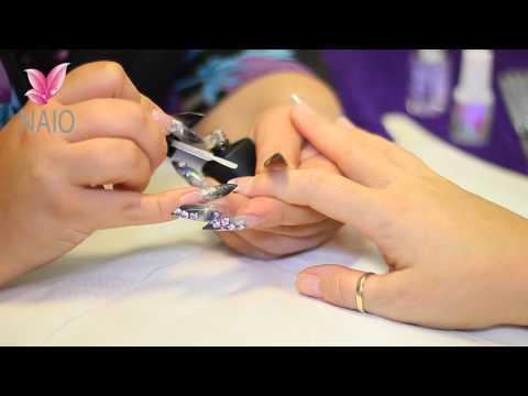 Apply Gel Top Coat to an Acrylic Nail Tutorial Video by Naio Nails