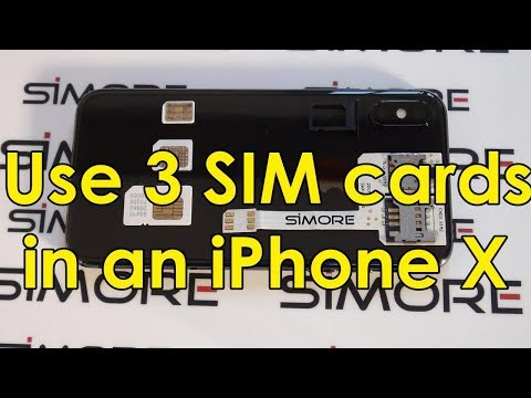 Use 3 SIM cards in an iPhone X with SIMore WX-Triple