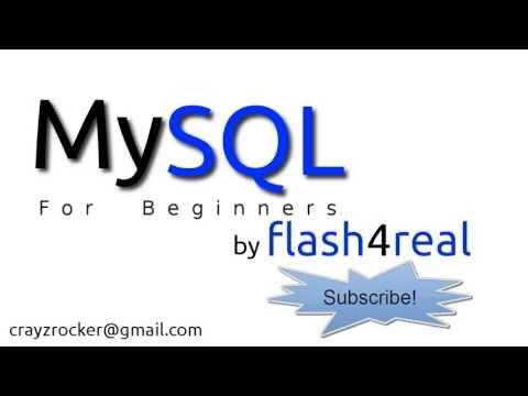 MySQL For Beginners - Tutorial 1 - Introduction to Basics